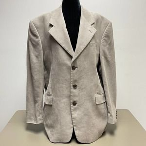 Andrew Fezza Men's Blazer Faux Suede Jacket Sz XL